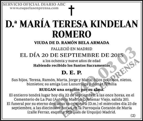 María Teresa Kindelan Romero